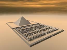Le labyrinthe d'Hawara et sa pyramide en image 3D