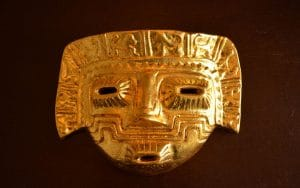 masque d'or inca