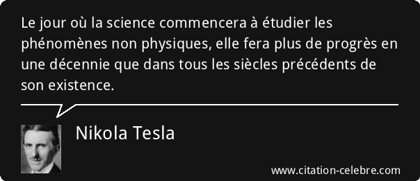 Citation Nikola Tesla sur l'énergie