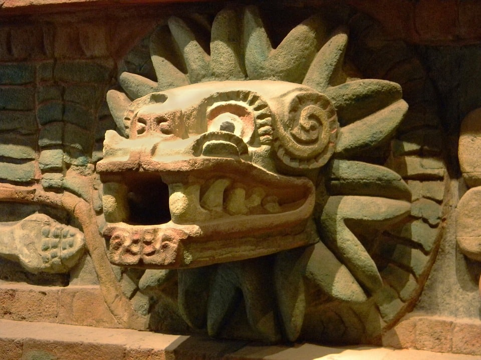 représentation de Quetzalcoatl à Teotihuacan