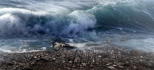 La collision d'un astéroïde sur la Terre peut créer un tsunami