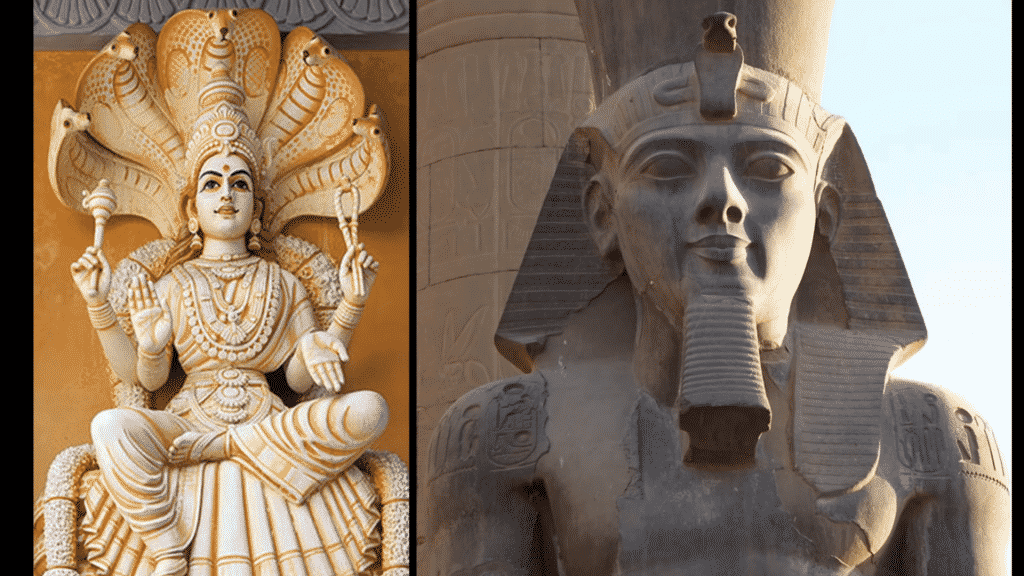 Le serpent est représenté chez les divinités Aztèques, Égyptiennes et Mayas