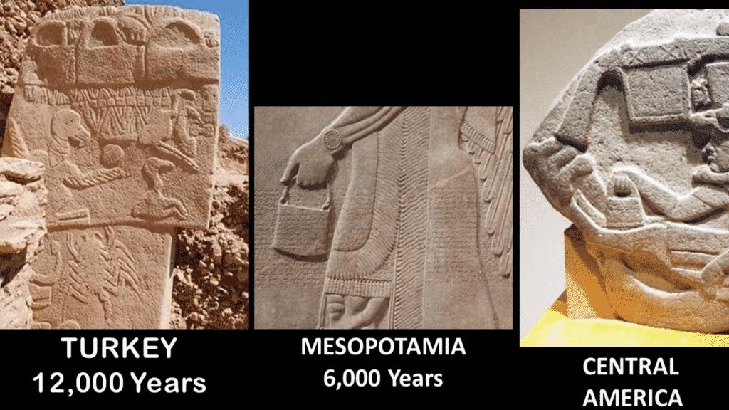 Un dessin similaire découvert sur trois continents