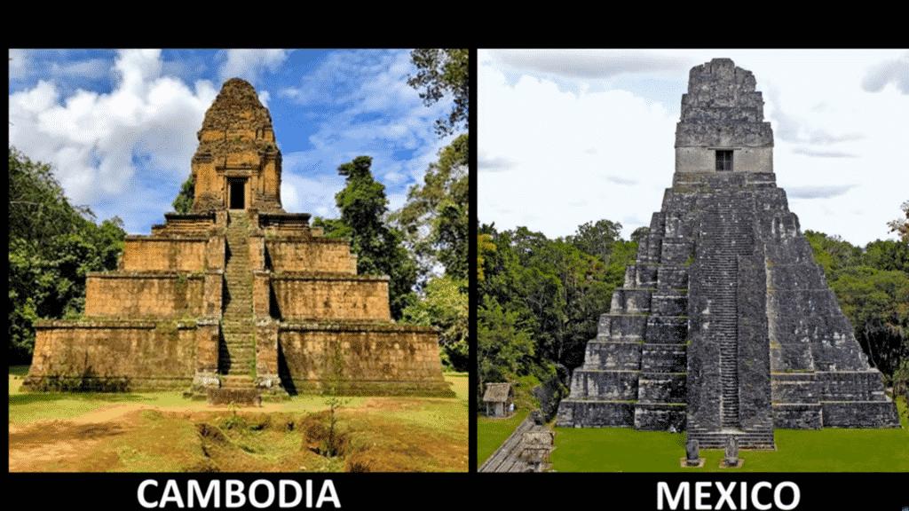 architecture similaire des pyramides