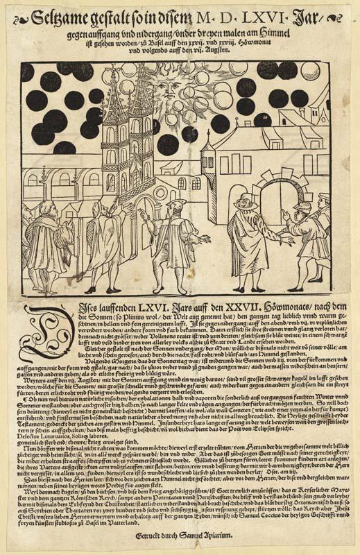 Observations d'ovnis au moyen-âge, le spectacle céleste de Bâle