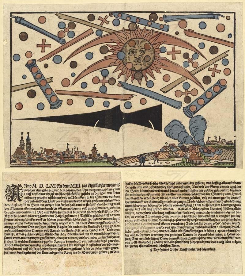 Observations d'ovnis au moyen âge, le phénomène de Nuremberg