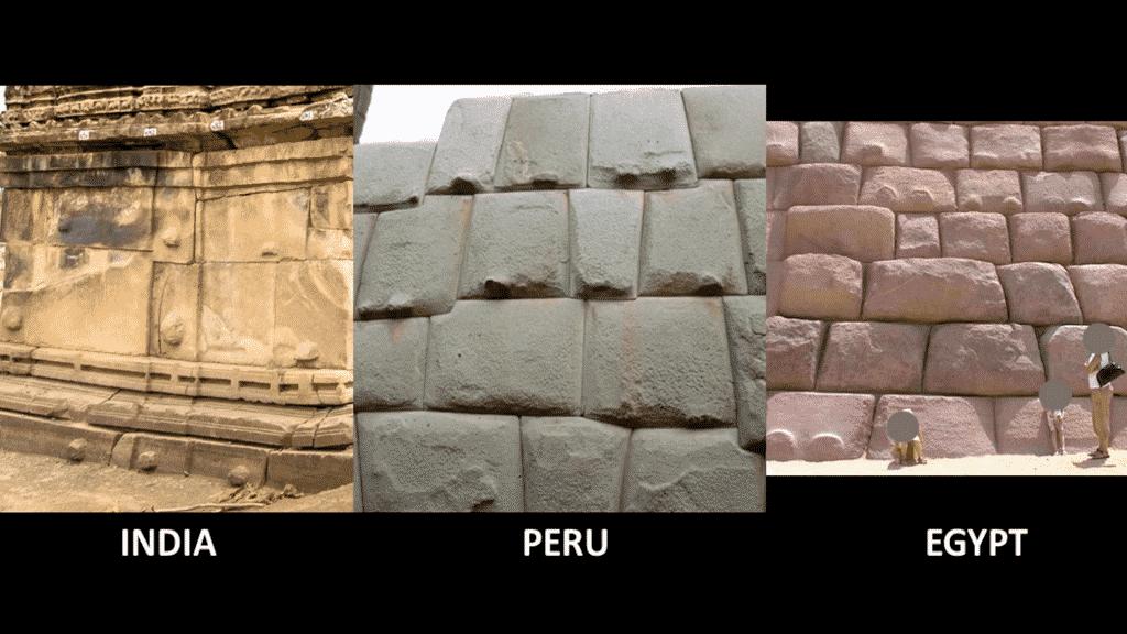 excroissance de pierre en Inde au Pérou et en Egypte