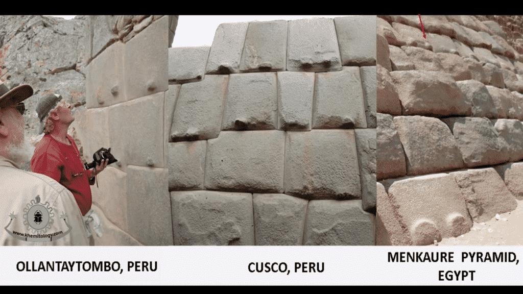 parmi les similitudes qu'on peut retrouver chez les civilisations anciennes, il y a ces excroissances de pierre