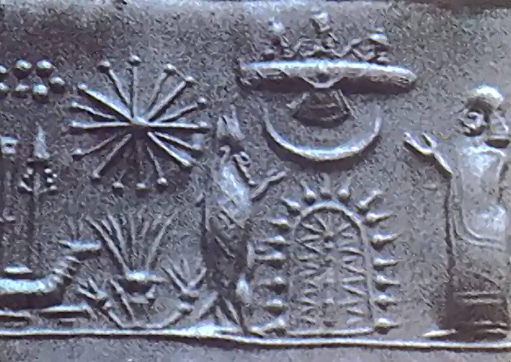 tablette sumérienne représentant un objet volant