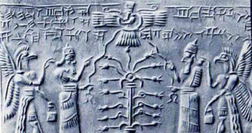 Tablette représentant les Annunaki