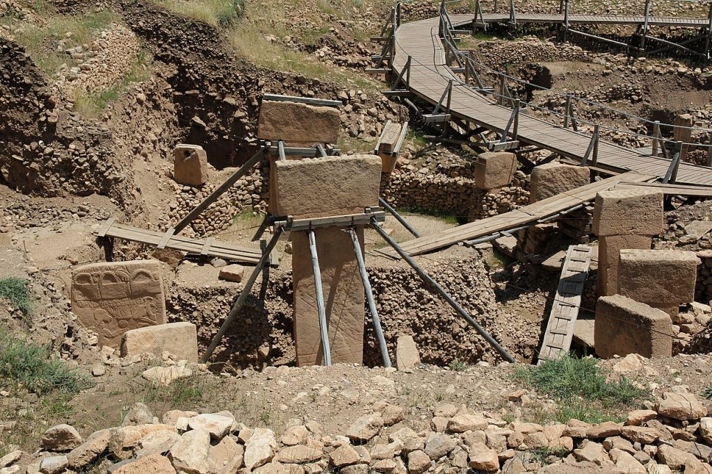 Göbekli Tepe en Turquie, considéré comme le plus vieux temple de l'humanité.