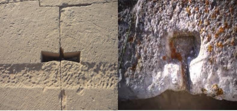 agrafe ou crampon en Grèce et en égypte