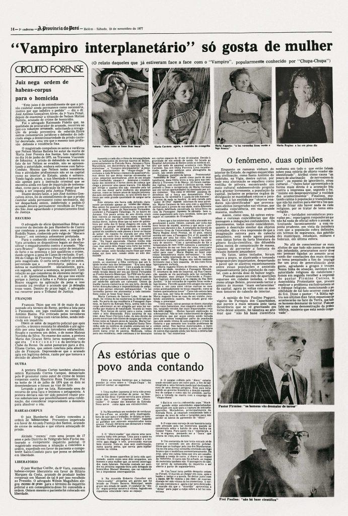 Les victimes de l'affaire d'ovnis à Colares