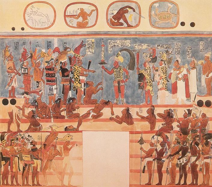 Les murs des cités Mayas étaient très colorés