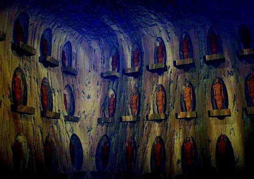 La salle des guerriers découvertes dans les grottes de l'Arizona