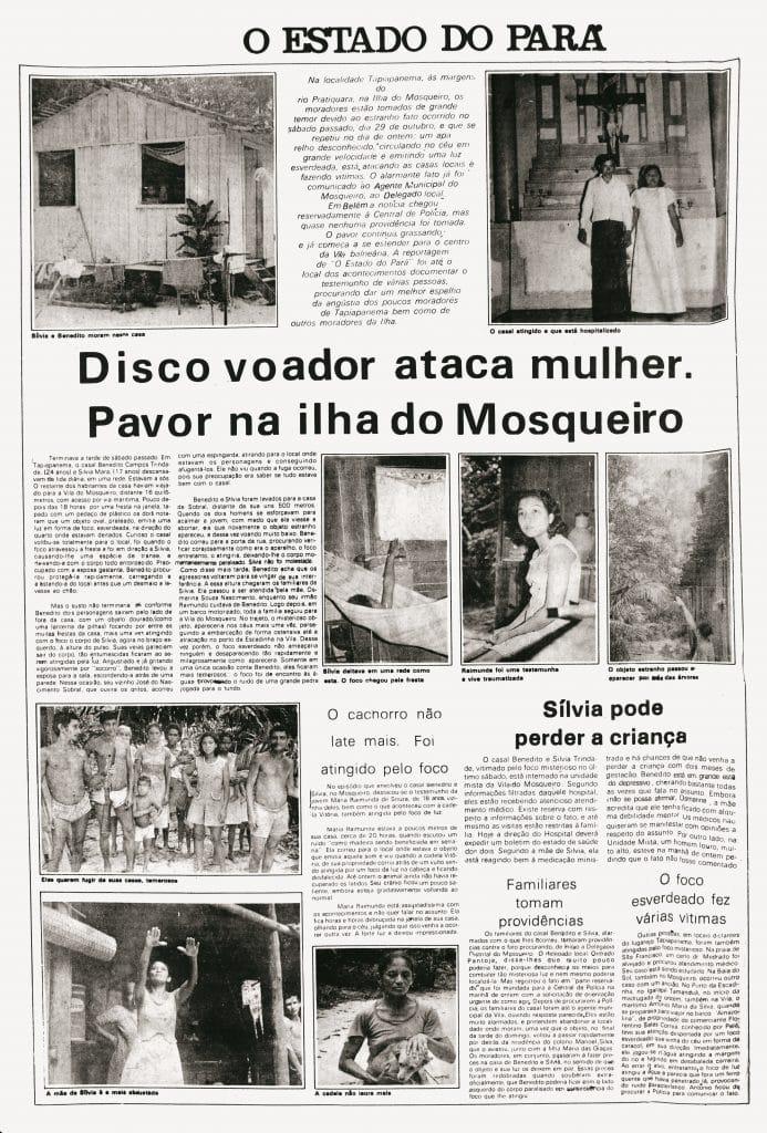 La vague d'ovnis au Brésil en 1977 fait la une des journaux.