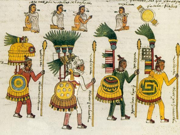 peinture guerrier Maya