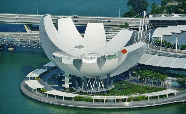 l'Artscience Museum imite la forme d'une fleur de lotus