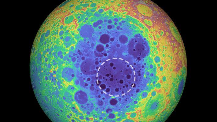 Masse mystérieuse découverte sous la surface de la lune
