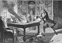 Incendie chez Isaac Newton