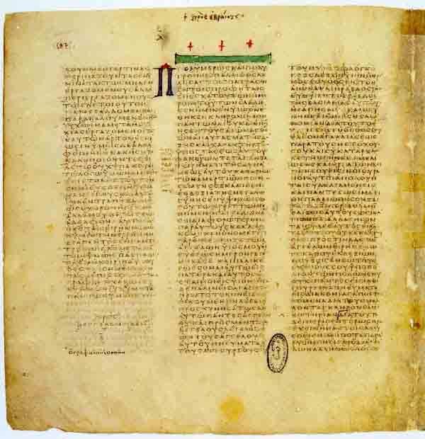 Codex vaticanus un texte à l'origine de la religion catholique