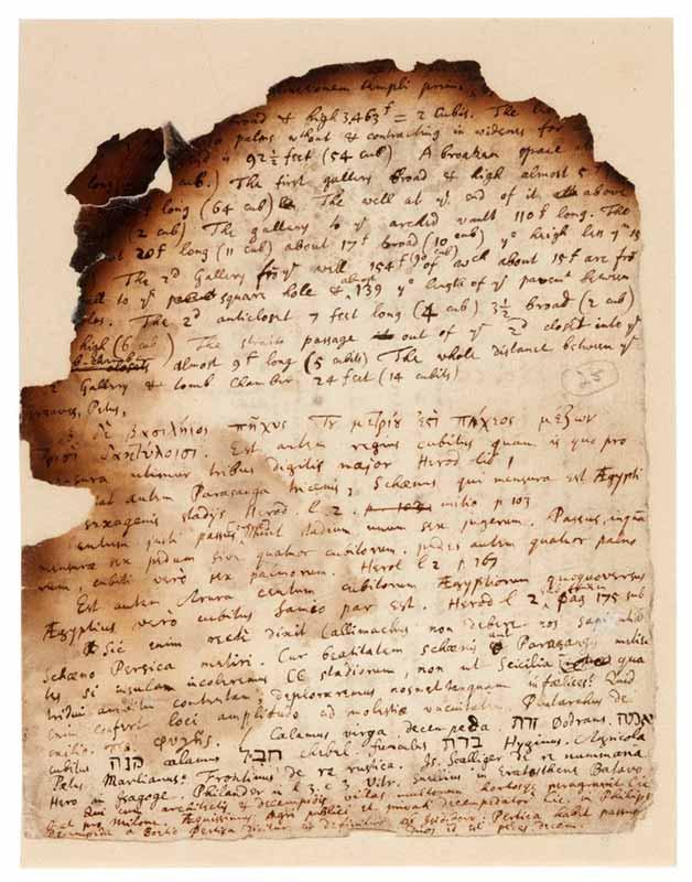 documents secrets d'Issac Newton
