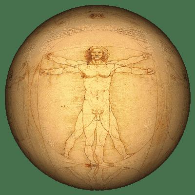 Homme de vitruve et le nombre d'or