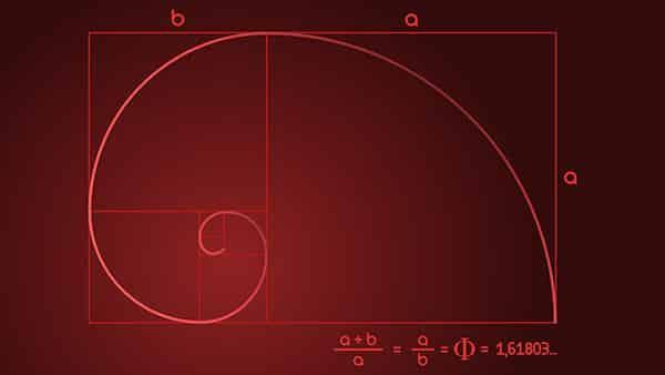 figure géométrique avec le nombre d'or
