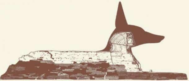 Le sphinx de Gizeh ne pourrait être Anubis