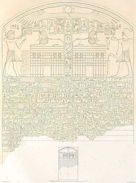 La stèle du rêve découverte au pied du sphinx