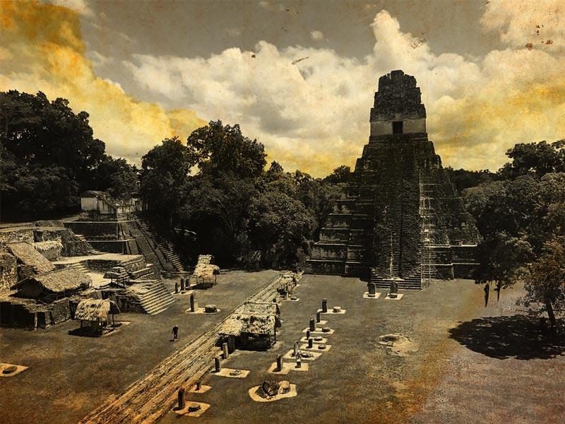 Cité de Tikal au Guatemala