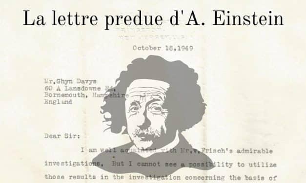 Albert Einstein: une ancienne lettre égarée refait surface