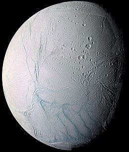 Encelade photographié depuis la sonde Cassini