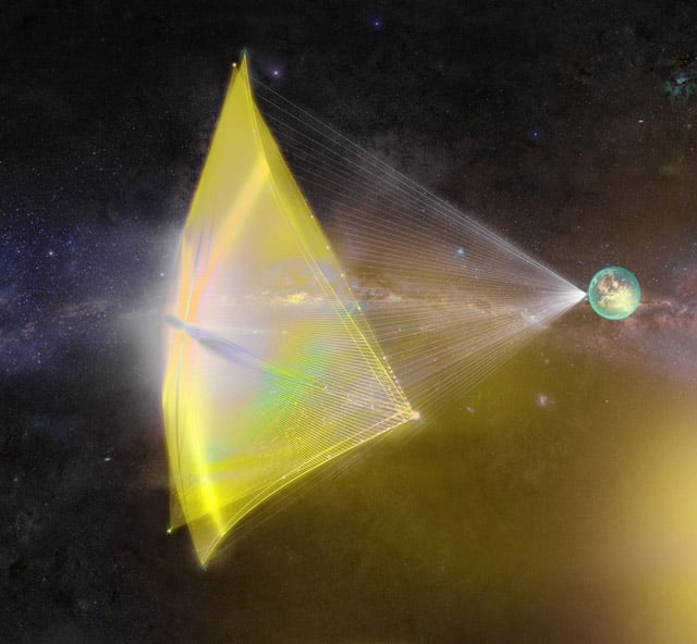 les sursauts radio rapides pourraient être une technologie extraterrestre utilisés pour propulser des voiles solaires.