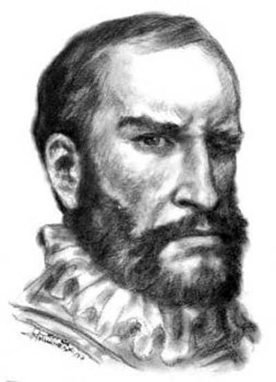Portrait de Carvajal qui rapporte l'existence de grande civilisations disparue en Amazonie.