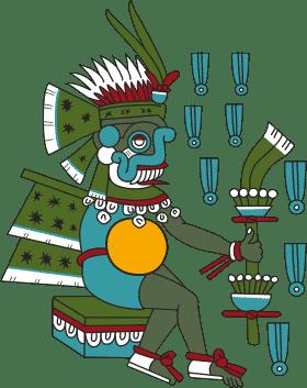 Dieu Aztèque de la pluie et de l'agriculture.