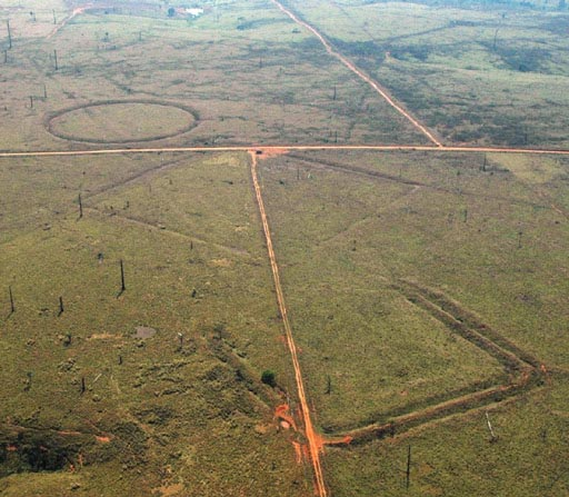 Les géoglyphes de l'Amazonie suggère l'existence d'une ancienne civilisation disparue ayant connaissance de la géométrie.
