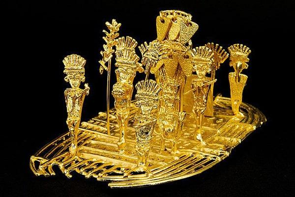 Le radeau d'or et la cérémonie de l'El Dorado.