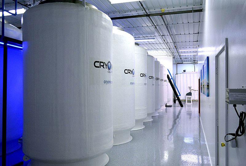 Cuve de cryogénisation, lieu de conservation pour les êtres humain cryogénisés.