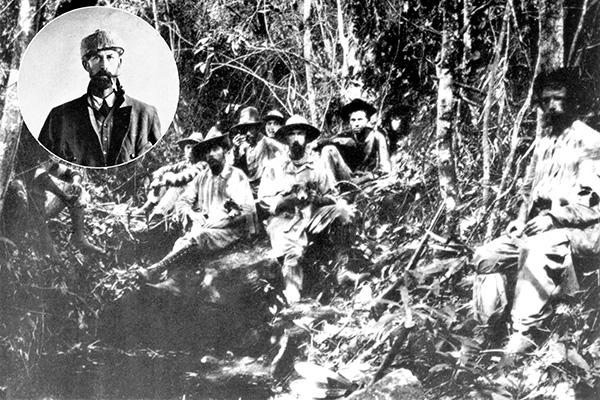 Percy Fawcett et un groupe d'explorateur à la recherche de la cité perdue de Z