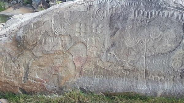 la pierre d'Ingá trouvé à Paraíba