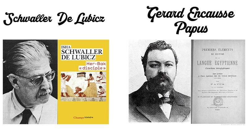 Photo de Papus et Schwaller de Lubicz, deux auteurs spécialisés dans les traditions ésotériques Egyptienne
