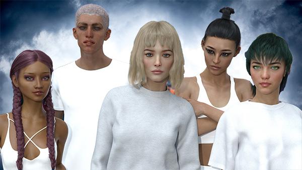 Le groupe Auxuman entièrement crée par l'intelligence artificielle.